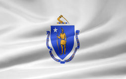 Vlag van Massachusetts vector illustratie