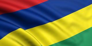 Vlag van Mauritius Royalty-vrije Stock Afbeeldingen