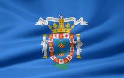 Vlag van Melila royalty-vrije illustratie