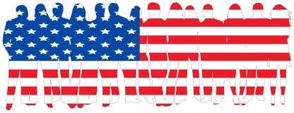 Vlag van mensen Royalty-vrije Stock Afbeelding
