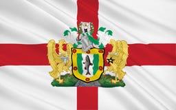 Vlag van Metropolitaanse Stad van Rochdale-stad, Engeland Stock Foto