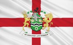 Vlag van Metropolitaanse Stad van Rotherham, Engeland Royalty-vrije Stock Afbeeldingen