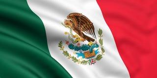Vlag van Mexico Stock Afbeeldingen