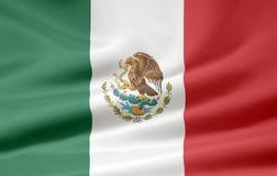Vlag van Mexico royalty-vrije illustratie