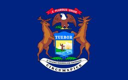 Vlag van Michigan, de V.S. royalty-vrije stock afbeelding