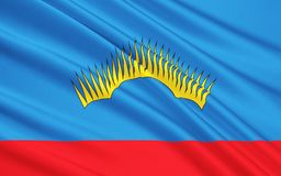 Vlag van Moermansk Oblast, Russische Federatie stock illustratie