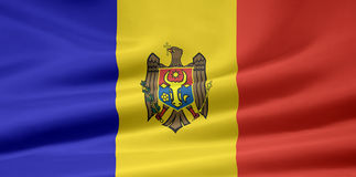 Vlag van Moldavië stock illustratie