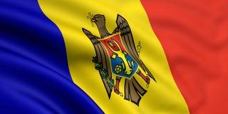 Vlag van Moldova stock illustratie
