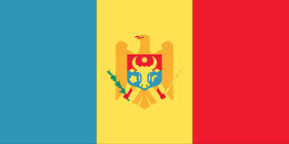 Vlag van Moldova Stock Fotografie