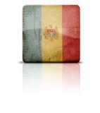 Vlag van Moldova Moldavië stock afbeeldingen