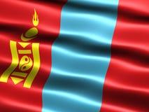 Vlag van Mongolië Stock Afbeelding