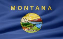 Vlag van Montana stock illustratie
