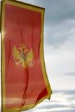 Vlag van Montenegro Stock Afbeeldingen
