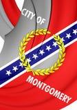 Vlag van Montgomery City Alabama, de V.S. Royalty-vrije Stock Fotografie