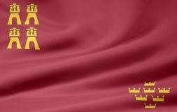 Vlag van Murcia - Spanje Stock Afbeelding
