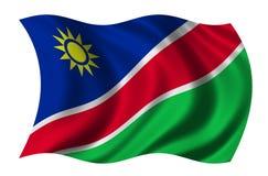 Vlag van Namibië Stock Foto's