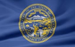 Vlag van Nebraska stock illustratie