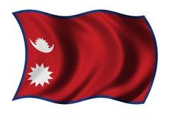 Vlag van Nepal Stock Afbeeldingen