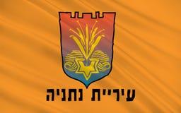 Vlag van Netanya, Israël royalty-vrije illustratie