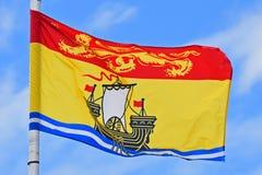 Vlag van New Brunswick Royalty-vrije Stock Foto