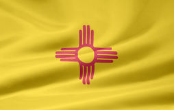 Vlag van New Mexico royalty-vrije illustratie