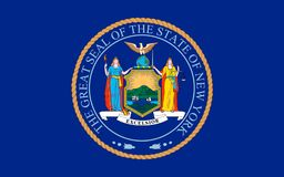 Vlag van New York, de V.S. Stock Foto's