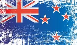 Vlag van Nieuw Zeeland Gerimpelde vuile vlekken royalty-vrije stock foto's