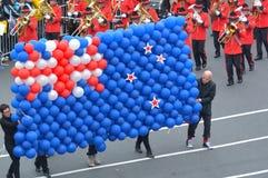 Vlag van Nieuw Zeeland uit ballons wordt gemaakt die Stock Afbeeldingen