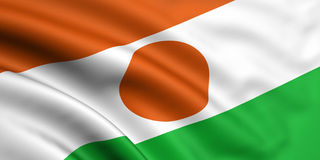 Vlag van Niger Stock Fotografie