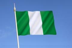 Vlag van Nigeria stock afbeeldingen