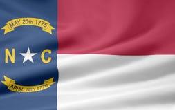 Vlag van Noord-Carolina stock illustratie