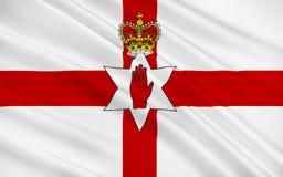 Vlag van Noord-Ierland van het Verenigd Koninkrijk van Groot-Brittannië Royalty-vrije Stock Foto
