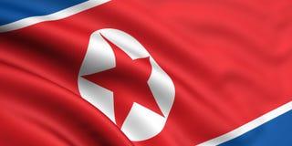 Vlag van Noord-Korea stock illustratie