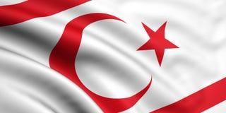 Vlag van Noordelijk Cyprus Stock Foto's