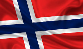 Vlag van Noorwegen stock foto