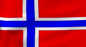Vlag van Noorwegen stock illustratie