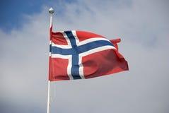 Vlag van Noorwegen Royalty-vrije Stock Foto's