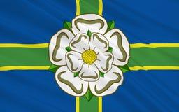 Vlag van North Yorkshire-Provincie, Engeland vector illustratie