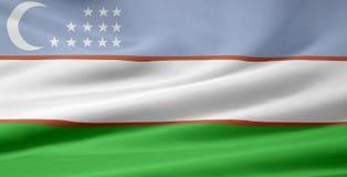 Vlag van Oezbekistan vector illustratie