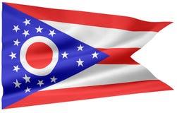 Vlag van Ohio stock illustratie