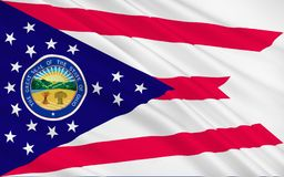Vlag van Ohio, de V.S. stock illustratie