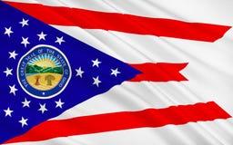 Vlag van Ohio, de V.S. Royalty-vrije Stock Foto's