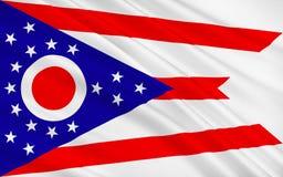 Vlag van Ohio, de V.S. vector illustratie