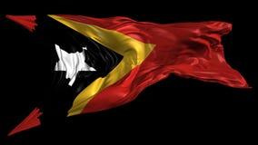 Vlag van Oost-Timor vector illustratie