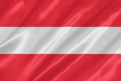 Vlag van Oostenrijk royalty-vrije illustratie