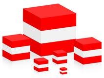 Vlag van Oostenrijk Royalty-vrije Stock Afbeelding