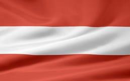Vlag van Oostenrijk vector illustratie