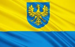 Vlag van Opole Voivodeship in Polen Stock Fotografie