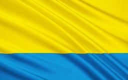 Vlag van Opole Voivodeship in Polen Royalty-vrije Stock Foto's