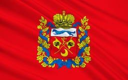 Vlag van Orenburg Oblast, Russische Federatie Royalty-vrije Stock Afbeeldingen